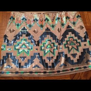 Awesome Lined Sequin Skirt By Express
